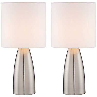 """Aron 14 1/"""" High Accent Touch Lamps - Set of 2 - Lamps Plus"""