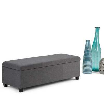 Avalon Slate Grey Storage Bench - Home Depot