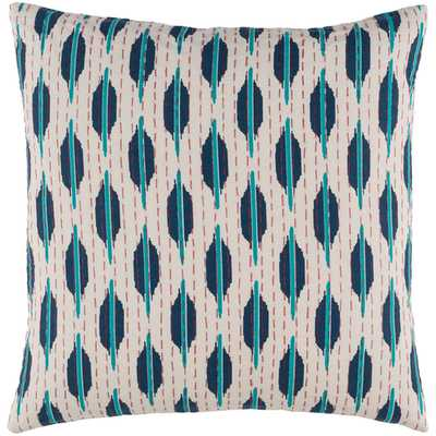 """Kantha Pillow - 20x20"""" - with Poly Insert - Neva Home"""