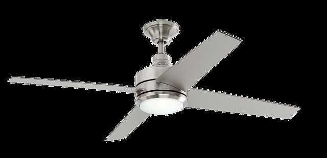 Mercer 52 in. LED Indoor Brushed Nickel Ceiling Fan - Home Depot