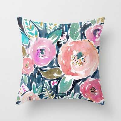 "Gardens of Capitola Watercolor 20"" Pillow - Society6"