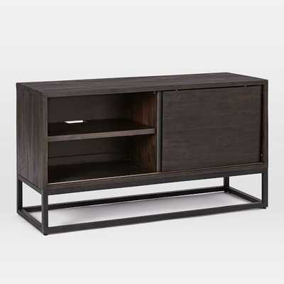 "Logan Industrial Media Console (48"") - Smoked Brown - West Elm"