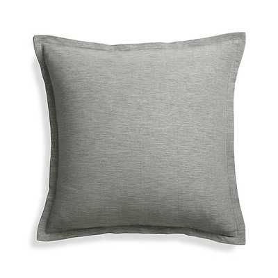 "Linden Grey 18"" Pillow with Down Insert - Crate and Barrel"