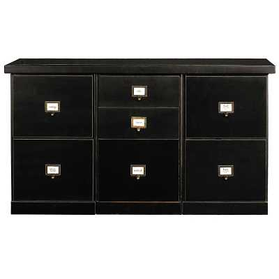 Ballard Designs Original Home Office; 3-Cabinet Credenza with Wood Top - Ballard Designs