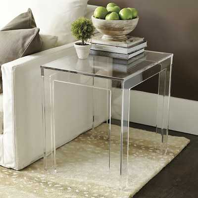 Ballard Designs Felicity Acrylic Rectangular Side Table - Ballard Designs