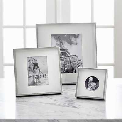 """Brushed Silver 8x10 Wall Frame 14.75"""" sq. x 1.5""""D - Crate and Barrel"""