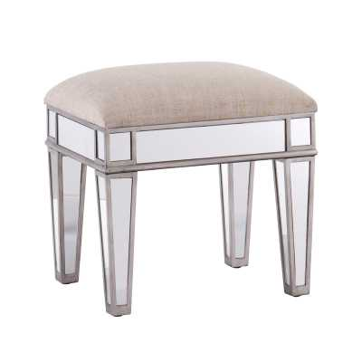 Kalia Mirrored Vanity Stool - Wayfair