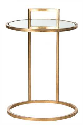CALVIN ROUND GOLD LEAF END TABLE - Arlo Home
