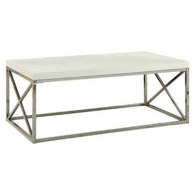 Metal Coffee Table - Monarch Specialties - Silver - Target