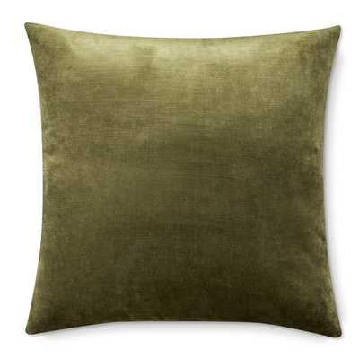 Velvet Pillow Cover, Sage - Williams Sonoma