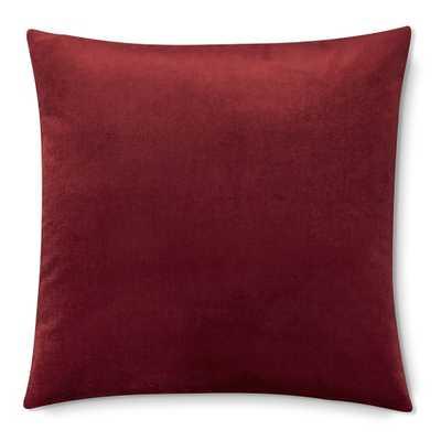 """Velvet Pillow Cover, 22 X 22"""", Red - Williams Sonoma"""