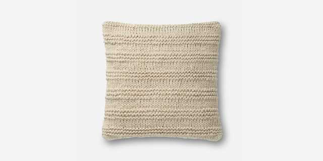 """P1041 MH BEIGE PILLOW, 22""""x22"""", POLY INSERT - Loma Threads"""