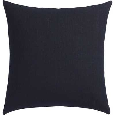 "20"" linon navy pillow with down-alternative insert - CB2"