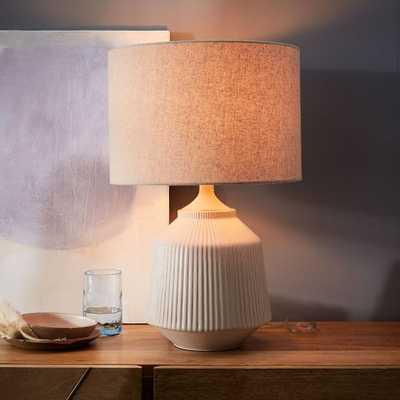 Roar + Rabbit™ Ripple Ceramic Table Lamp - (White) - West Elm