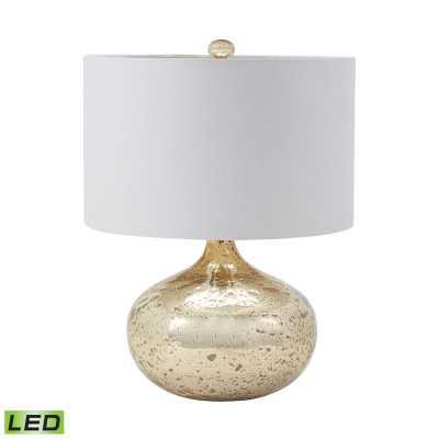 Antique Mercury Glass LED Table Lamp - Rosen Studio