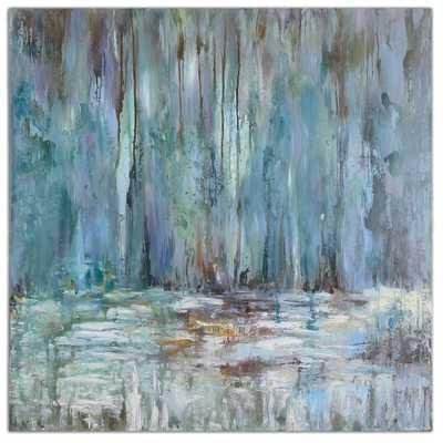"Blue Waterfall - 40"" x  40"" Canvas - Hudsonhill Foundry"