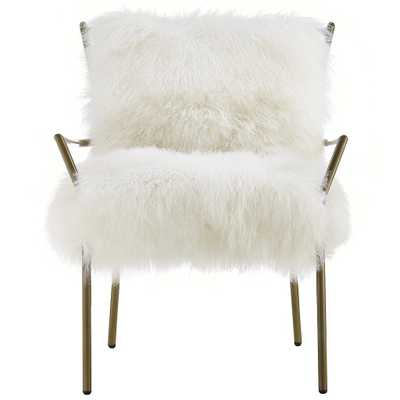 Cameron Chair, White, Gold - Studio Marcette