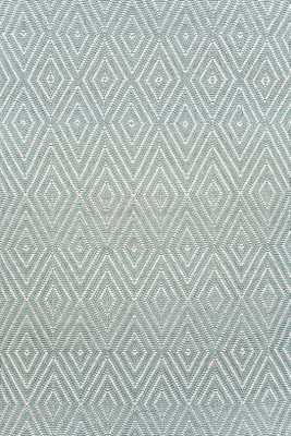Diamond Light Blue/Ivory Indoor/Outdoor Rug -  3x5 - Dash and Albert