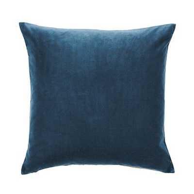"""Signature Velvet & Linen Pillow , Deep Teal - 20"""" x 20"""" - Feather down insert - Ballard Designs"""
