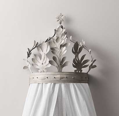 Heirloom White Demilune Metal Canopy Bed Crown - RH Baby & Child