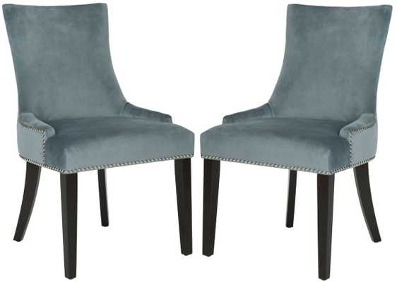 "LESTER 19""H DINING CHAIR (SET OF 2) - Blue - Arlo Home"