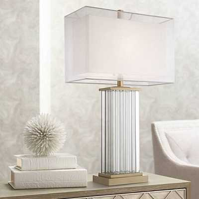 Vienna Full Spectrum Darcia Double Shade Crystal Table Lamp - Lamps Plus