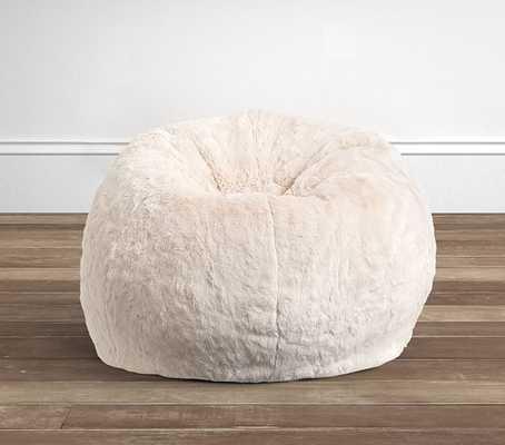 Ivory Faux Fur Anywhere Beanbag - Pottery Barn Kids