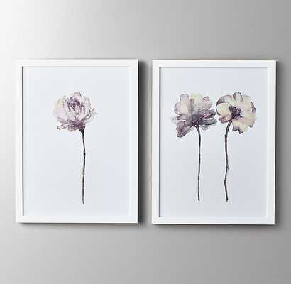 WATERCOLOR FLOWER ART - LILAC - double - RH Baby & Child
