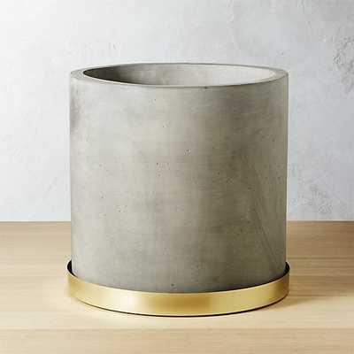 Moda Large Cement Planter - CB2