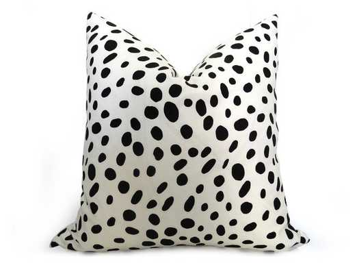 Dalmatian Pillow Cover - Black and White - 18''x18''- Insert not included - Willa Skye