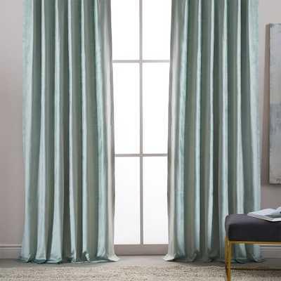 "Luster Velvet Curtain, Pale Jade, 48""X96"" - West Elm"