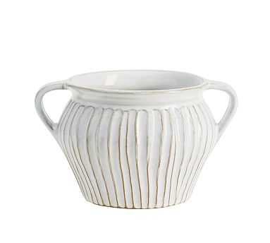Surrey Vase Collection, Ivory, Small - Pottery Barn