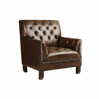 ALESSIO HAND RUBBED LEATHER CHAIR - Abbyson Living