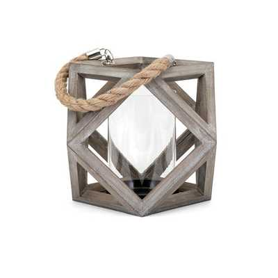 Ares Small Wood Lantern - Mercer Collection