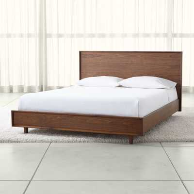 Tate Queen Wood Bed - Crate and Barrel
