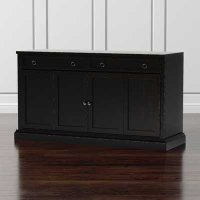 "Cameo 62"" Bruno Black Modular Media Console - Crate and Barrel"