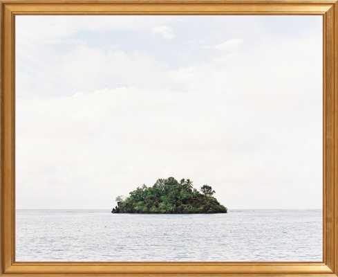 """Island - 29"""" x 24"""" - Gold Leaf Frame, No mat - Artfully Walls"""