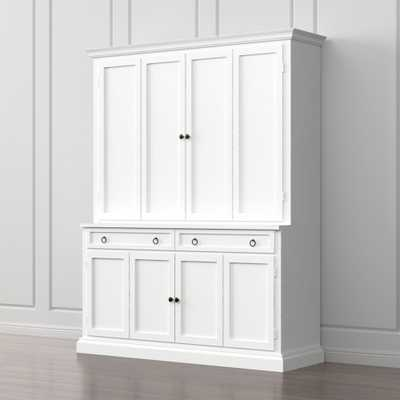 Cameo 2-Piece White Entertainment Center - Crate and Barrel