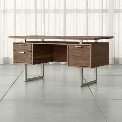 Clybourn Walnut Executive Desk - Crate and Barrel