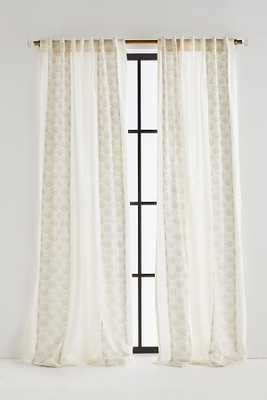 "Charley Curtain - 96"" - Silver - Anthropologie"