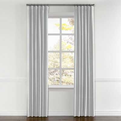 "Cool gray linen curtains - 50""W x 97""H, unlined - Loom Decor"