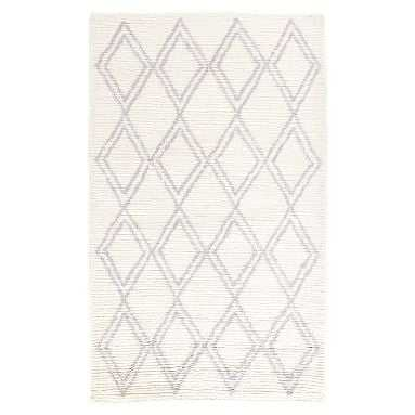 Diamond Shag Rug, 8x10 Ivory/Gray - Pottery Barn Teen