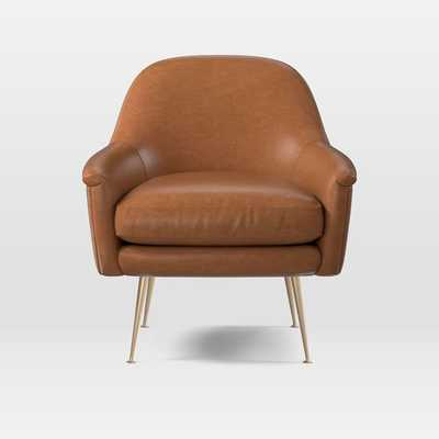 Phoebe Leather Chair - West Elm