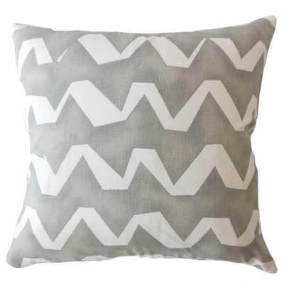 "Holden Geometric Gray Pillow Cover 26"" - Linen & Seam"