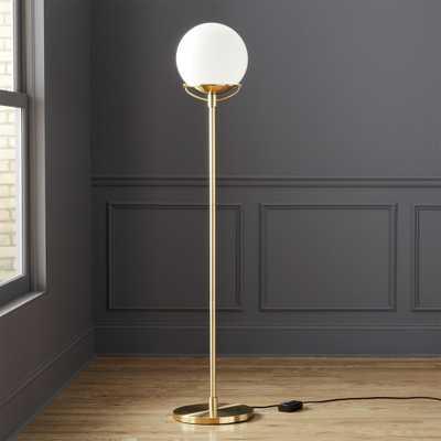 Globe Brass Floor Lamp - CB2