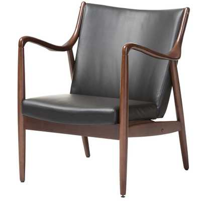 Shakespeare Mid-Century black Upholstered Accent Chair - Home Depot