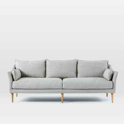 "CUSTOM; Antwerp Sofa 89"" Shadow Weave Platinum - West Elm"