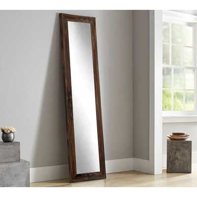 Rustic Espresso Full Length Framed Mirror - Home Depot