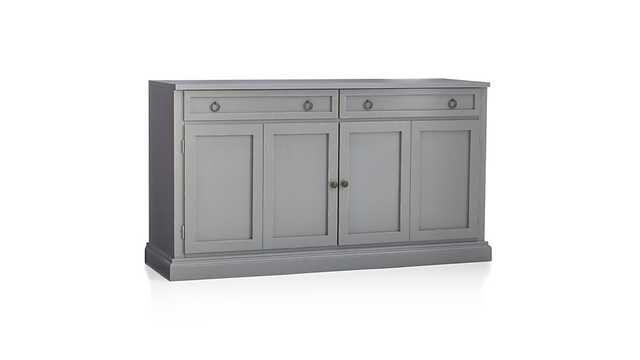 "Cameo 62"" Grey Modular Media Console - Crate and Barrel"