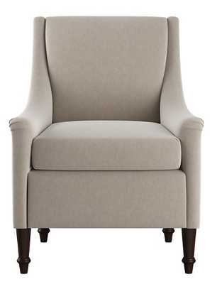 Holmes Accent Chair, Light Gray Velvet - One Kings Lane